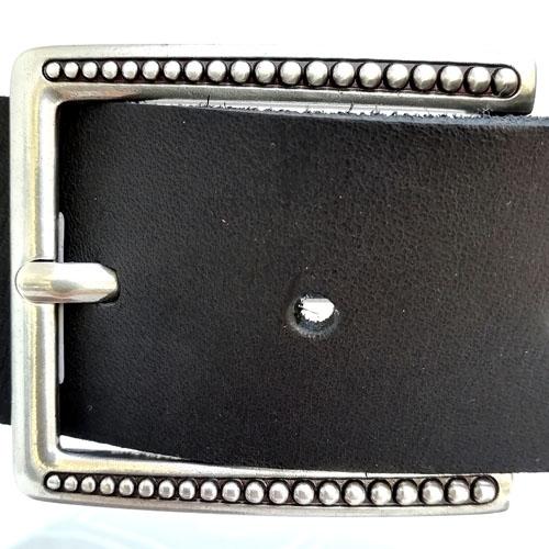 cinturo cuir negre sivella dona Popelin Barcelona