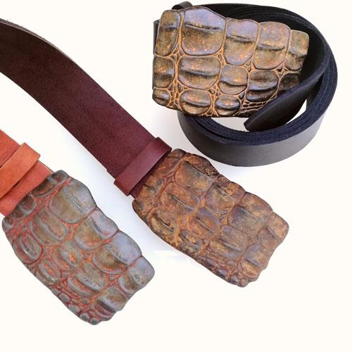 cinturon cuero hebilla regalo ideal Popelin barcelona