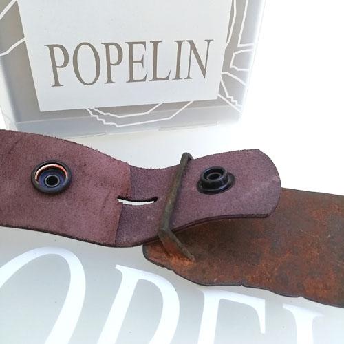 cinturon cuero hombre hebilla original Popelin Barcelona