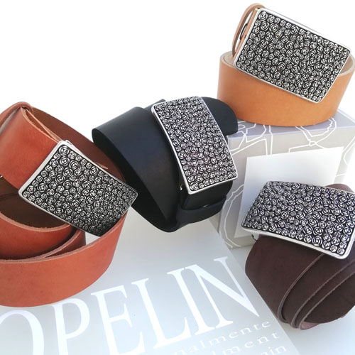 cinturons cuir sivella metall dona Popelin Barcelona