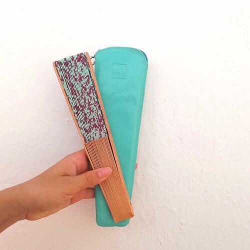 funda abanico azul verde popelin barcelona tienda online