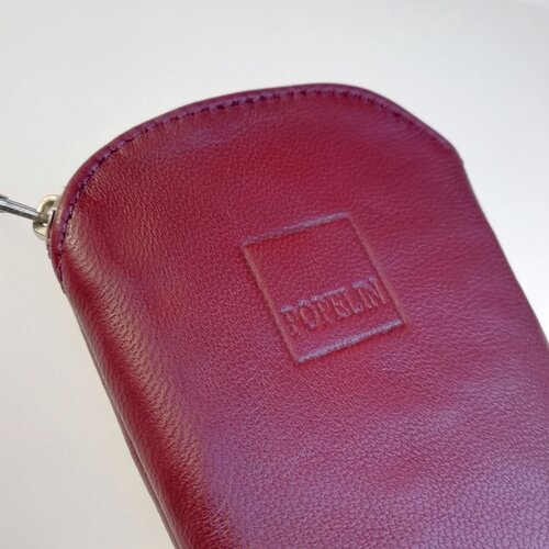 funda ventall cuir bordeus disseny modern popelin barcelona