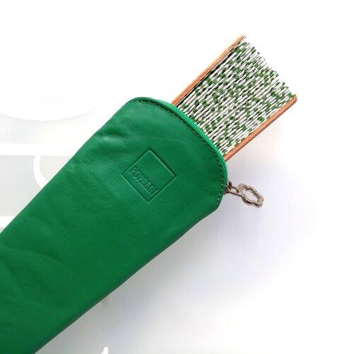 funda ventall cuir color verd disseny popelin barcelona