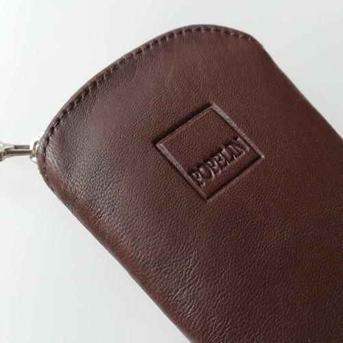 funda ventall cuir marro artesania online popelin barcelona
