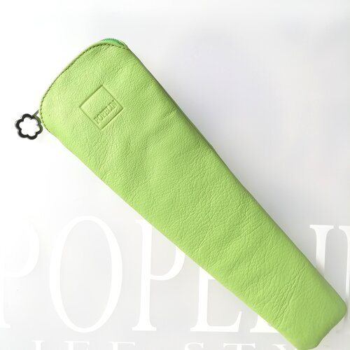 funda ventall cuir verd disseny catala popelin barcelona