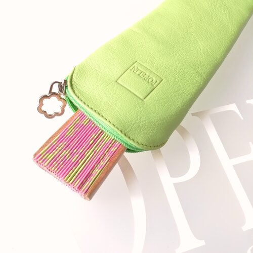 funda ventall cuir verd regal disseny modern popelin barcelona