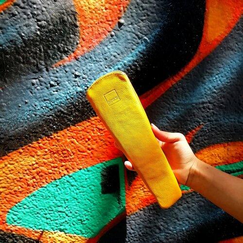 funda ventall groc mostassa regal aniversari popelin barcelona