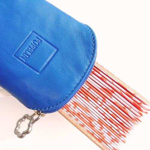 funda ventall pell blava disseny botiga online popelin barcelona