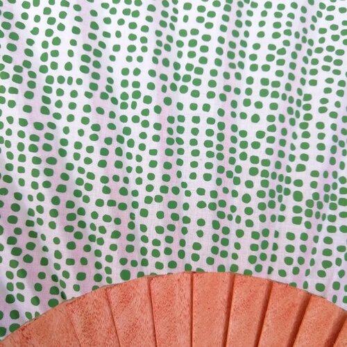 ventall estampat tela fusta coto disseny popelin barcelona