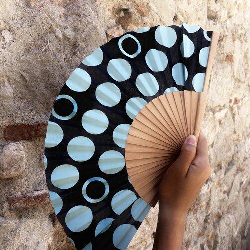 ventall fusta tela topos modern disseny popelin barcelona