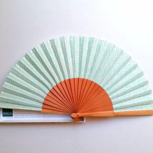 ventall original topets verd disseny especial modern popelin barcelona