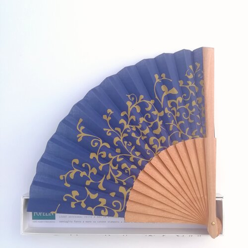 abanico azul matisse regalo elegante moderno caja popelin barcelona