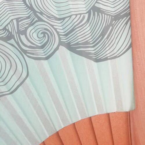 abanico madera algodon moderno popelin barcelona tienda online