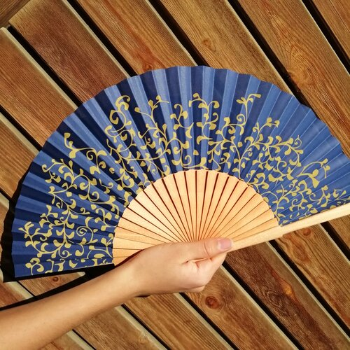 abanico matisse azul regalo ideal mujer popelin barcelona espana