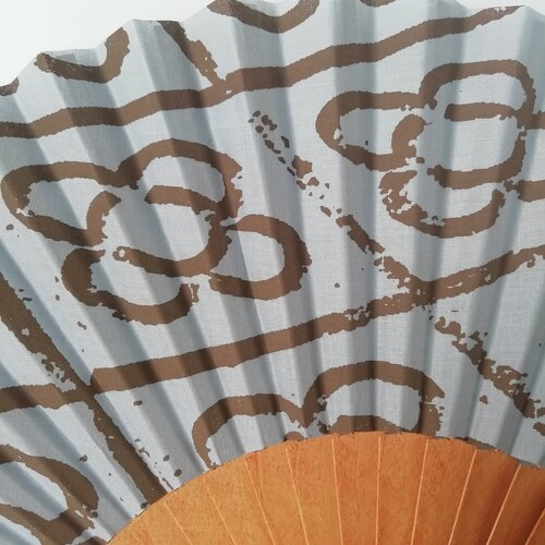 abanico panot flor baldosa modernismo regalo mujer popelin barcelona
