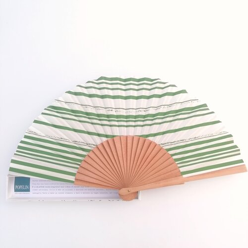 abanico rayas verde diseno original popelin barcelona tienda online