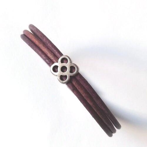 polsera panot flor cuir metall modernista popelin barcelona