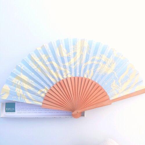 ventall disseny original blau pluma popelin barcelona botiga online