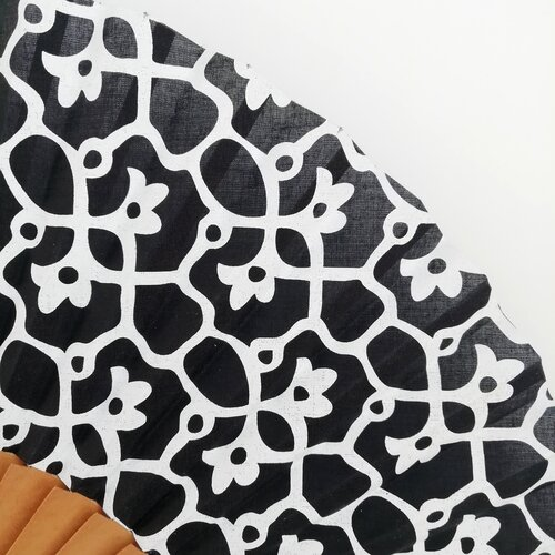 ventall estampat negre blanc jujol online popelin barcelona