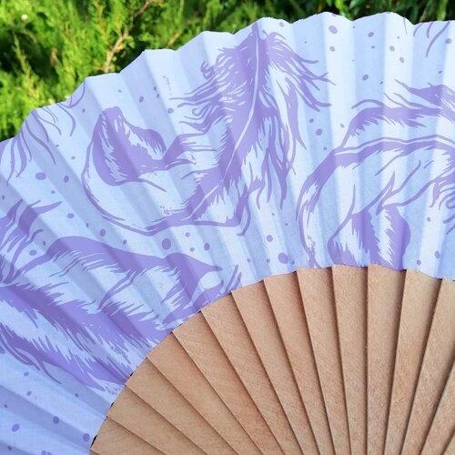 ventall plumes malva estampat original popelin barcelona