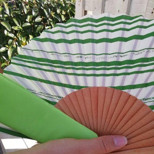ventall ratlles verd regal dona popelin barcelona
