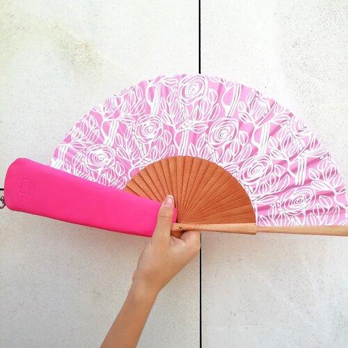 ventall rosa esgrafiat modernisme popelin barcelona artesania catalunya