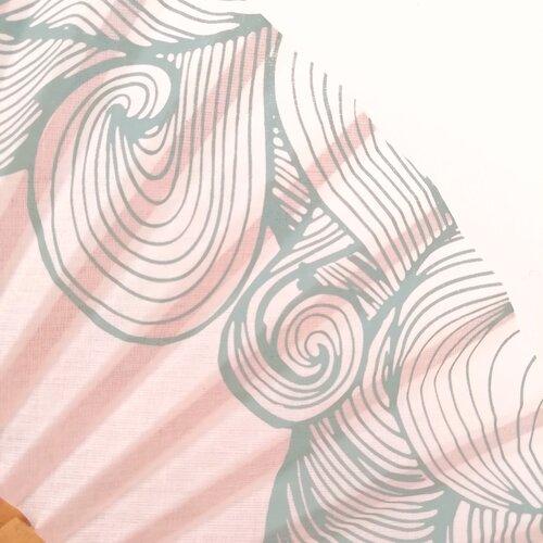 ventall rosa estampat original disseny catala popelin barcelona