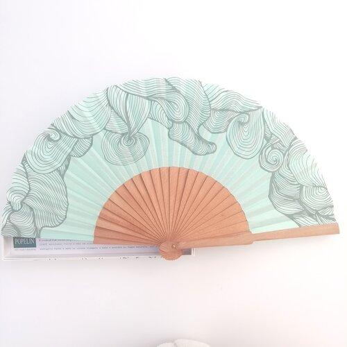 ventall turquesa disseny original popelin barcelona catalunya