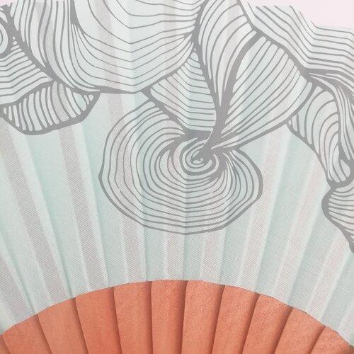 ventall turquesa estampat modern original dona popelin barcelona