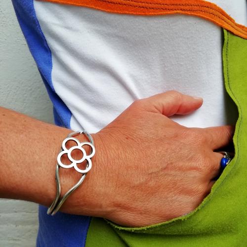 pulsera panot flor diseno original popelin barcelona