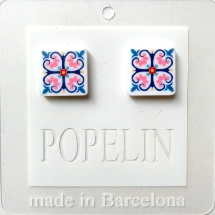 arrecades mosaic B hidrahulic rajola popelin barcelona