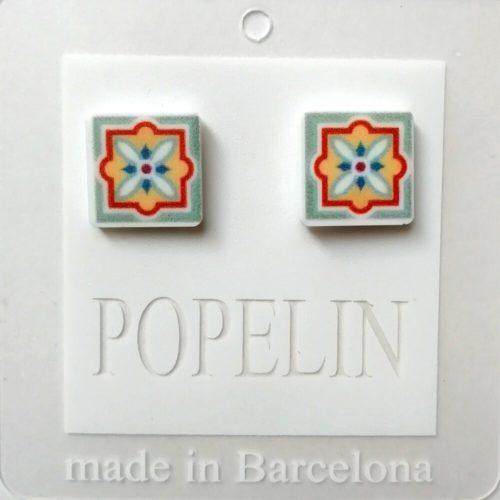 arrecades mosaic D modern catalunya popelin barcelona