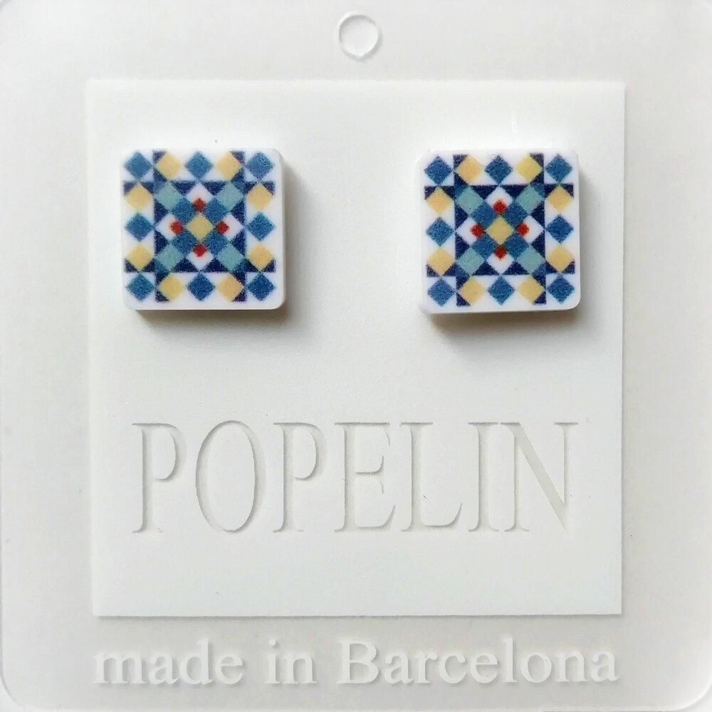 arrecades mosaic E hidrahulic modernista popelin barcelona